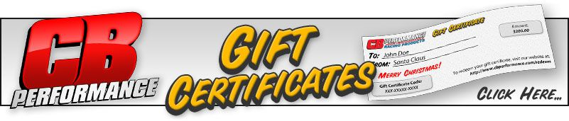 CB Performance Gift Certificates