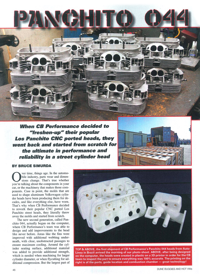 CB Performance Products, Inc  sells CNC ported cylinder