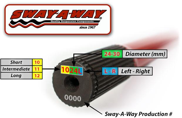 Sway-A-Way Torsion Bars